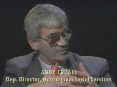 Andy Croall speaking on After Dark TV programme
