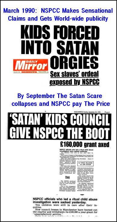 How The Daily Mirror Reported The NSPCC Scare