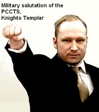 Anders Breivik giving Roman Salute