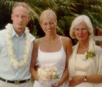 Anders Behring Breivik at his sister's wedding