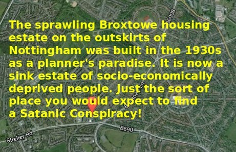 An Arial view of Broxtowe Housing Estate