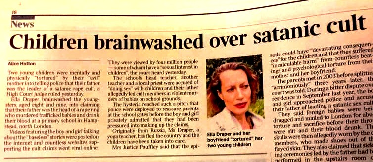 Hampstead SRA Case: Children Brainwashed into telling tales of SRA