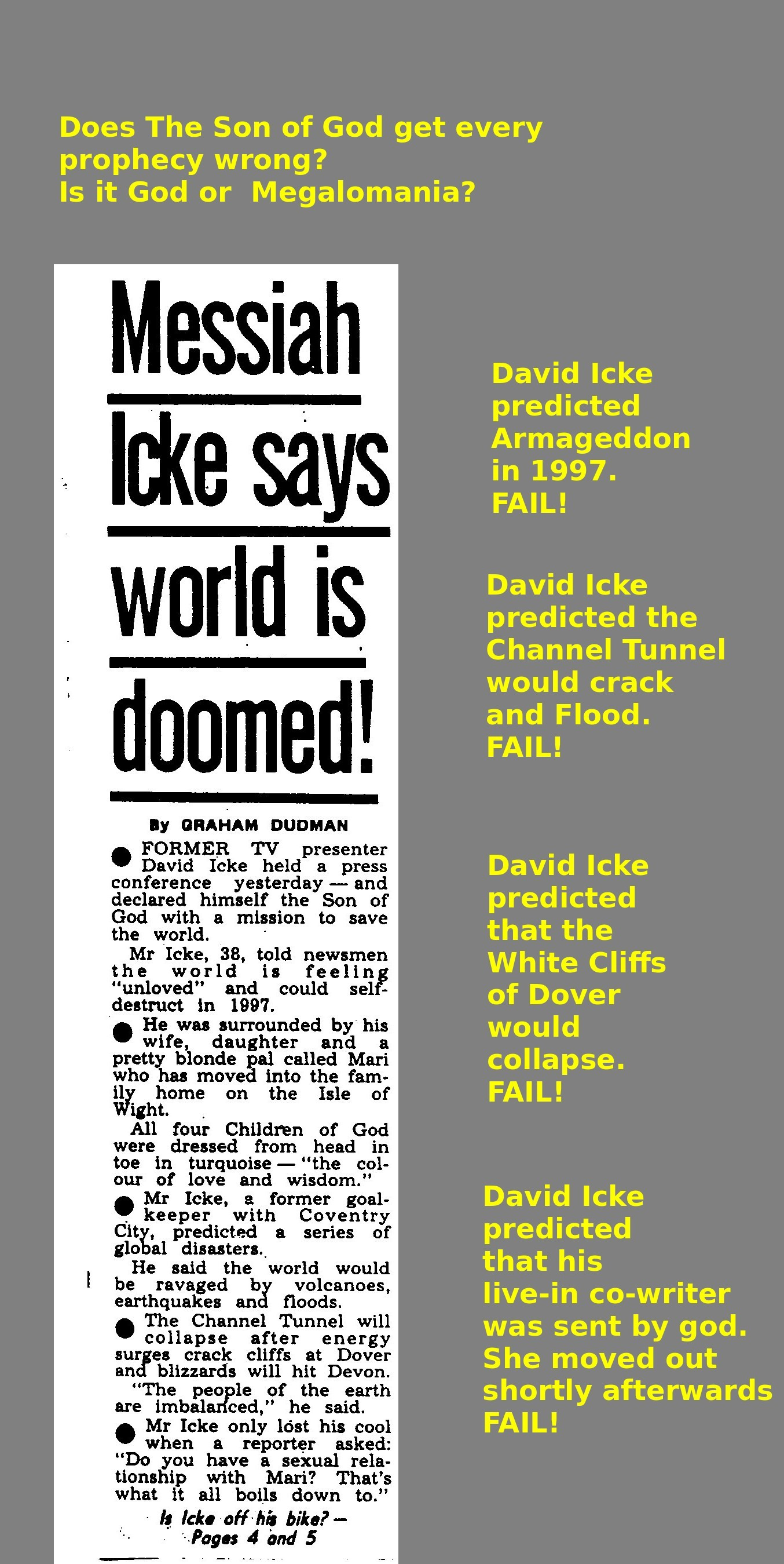 The Rise and Fall of David Icke  How a hopeful New Age