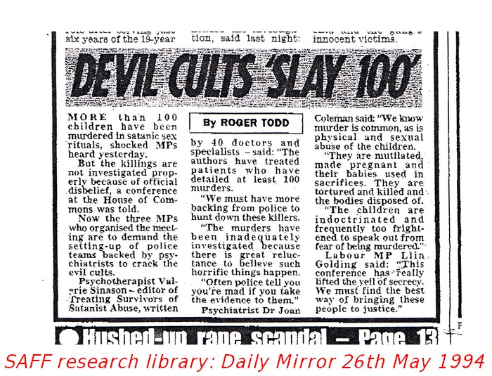 Expert Sinason says Devil Cults Slay 100