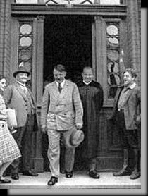 Hitler photographed leaving church after mass