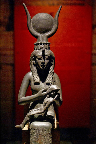 Isis freeding Osiris