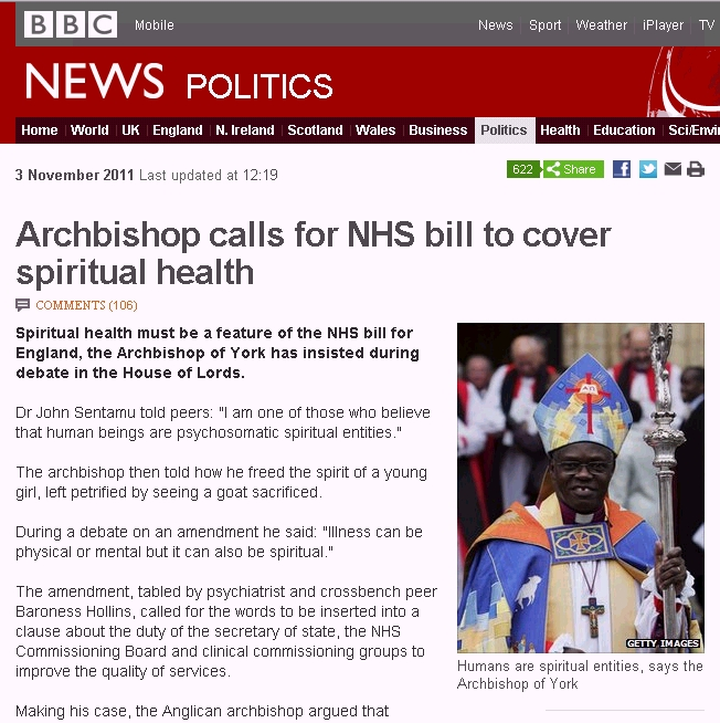 Archbishop of York confesses to doing exorcisms