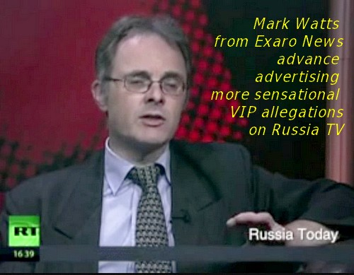 Mark Watts from Exaro News advertising more VIP allegations on Russia TV