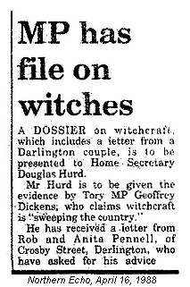 Contents of Dickens SRA Dossier - MP Has File On Witches