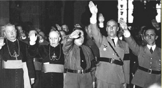 Goebbels and Nazi Brass Sand Side by Side with Catholic Bishops
