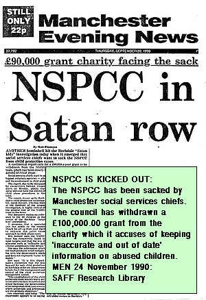 NSPCC is sacked after Rochdale Satanic Abuse Case