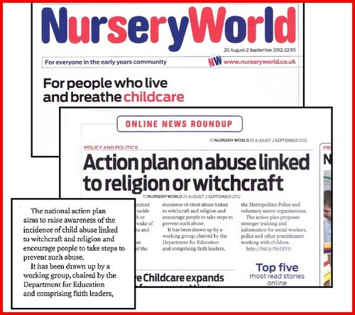 Nursery World, Quick off the mark Witch-child Action Plan  prepares the ground for the next witch-hunt
