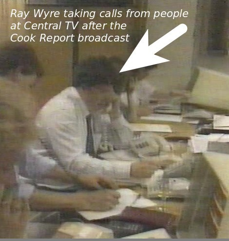 Ray Wyre taking calls on the helplines after the Cook Report, The Devil's Work
