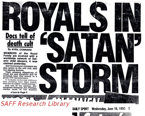 Ebryonic Westminster VIP paedo scare began in early 1990s attached to the Satanic Ritual Abuse Myth