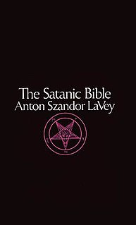 Front Cover of The Satanic Bible