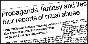 Propganda Fantasy and Lies blur reports of Ritual Abuse