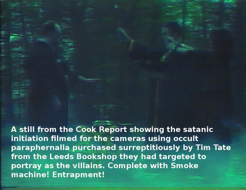 Satanic Initiation Rite performed for cameras for The Cook Report