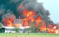 Davidian Compound Burning